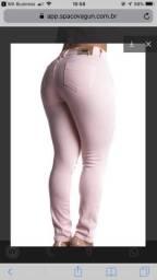 Calça jeans rosa spaco vagun promoção