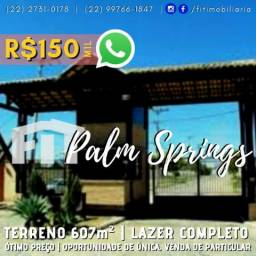 FIT | Oportunidade | 607m² terreno Palm Springs