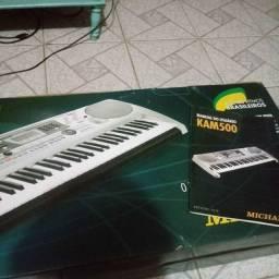 Teclado arranjador kam500 michael + suporte para teclados