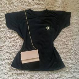 Bolsa R$25,00 T-shirt 100% algodão R$30,00
