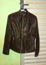 jaqueta de couro, feminina