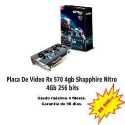 Placa De Vídeo Sapphire Radeon Rx 570 4gb Gddr5 Nitro+ 256-Bit