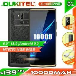 Celular, Oukitel k7 pro 6.0 bateria de 10.000mah 4gb 64gb + bride cartão memória 128gb.
