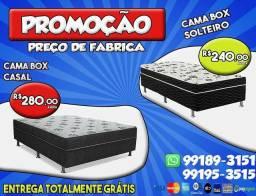 Promoção cama box  casal e solteiro