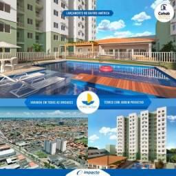 Lançamento Porto Acqua - Bairro América - 2 Qtos c/ Varanda - ITBI+Cartório Gratis!