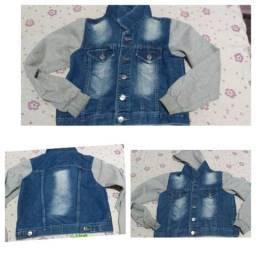 Jaqueta jeans com moletom tamanho G 35,00
