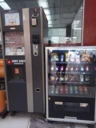Máquina de café bebidas quentes e lanches