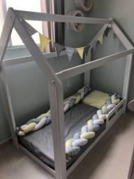Mini cama casinha 3 meses de uso