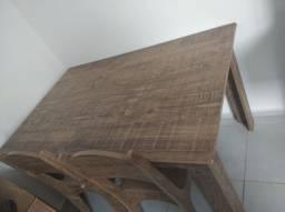 Mesa 4 cadeiras 500 reais