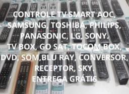 Controle TV Smart, TV Box, Som, Conversor, Receptor, Home Theater, Sky (Entrega Grátis)