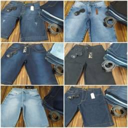 Bermudas jeans roupa masculina