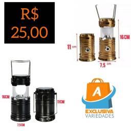 Lanterna Led Lampião Recarregável Retrátil + Entrega Grátis