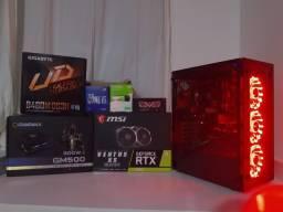 Maravilhoso PC Gamer Ultra / Workstation - I5 10400f - RTX 2060 6gb - Hd 500gb - NOVO