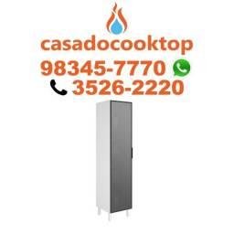 Paneleiro 1 Porta De Vidro 100% MDF Kali Premium 3108 Branco Nicioli