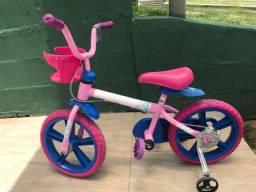 Bicicleta aro 14 baby alive bandeirante