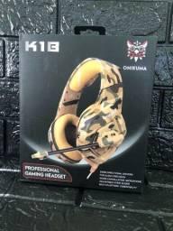 Headset Gamer Onikuma K1B Camuflado