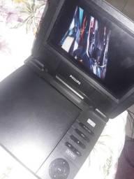 Dvd portatil e acessórios 100 reais...