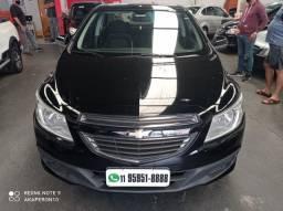Prisma Sedan Lt 1.0 8v Flex 2015 Preto Completo Confira !!