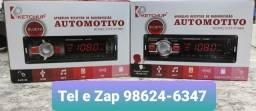 Som Automotivo com Bluetooth, USB e Fm