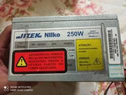 Fonte ATX Jitek Niko 250W Bivolt Automatico
