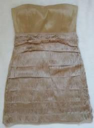 Vendo Vestido de tafeta com detalhes