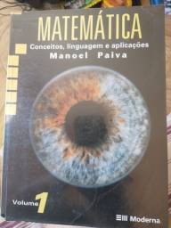Livro de matemática Manuel Paiva Volume 1