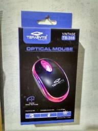 Mouse usb kts opitical mouse luz de led