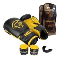 Kit luva de boxe/ muay thai pretorian