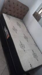 Cama box solteiro cm cabeceira semi nova marca gazin