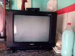 Vendo tv com o aparelho