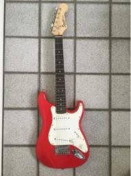 Guitarra Squier Fender Stratocaster Mini Com Suporte