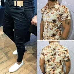 Promoção Combo Calça Skinny + Camisa Floral