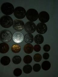 Vendo notas antigas e moedas