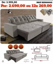 Super Promoção em Maringa - Sofa Retratil e Reclinavel 2,80 Luxo Lindissimo - Embalado
