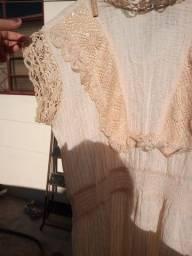 vestido de renda retrô 42/44