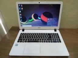 Ultrabook ACER i3 top branco, 4GB ram ddr3L, 500GB de hd. Estado de novo