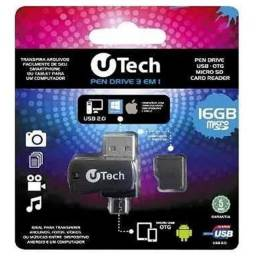Pen Drive cartão de memória Otg 3 Em 1 16gb <br><br>