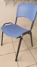 Cadeira plástico/metal escritório