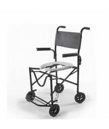 Título do anúncio: Cadeira Banho Dobrável Rodas Pequenas Braço Escamoteável,- Prolife