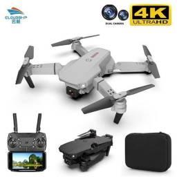 Drone TENG1 4k HD dual câmera, 3 baterias + estojo