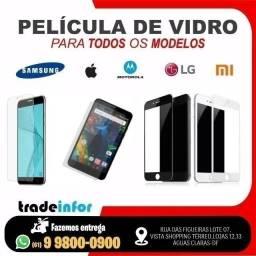 Película de Vidro e 3D iPhone, Samsung, Motorola, LG, Xiaomi (Atendemos por Delivery)