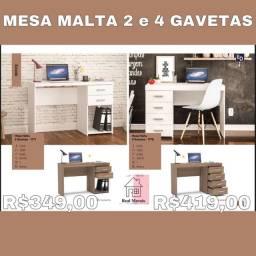 Mesa malta 2 ou 4 gavetas