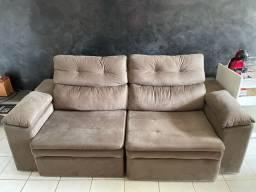 Sofá 3 lugares, retrátil e reclinável