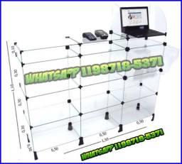 Balcão Caixa Modulado em Vidro