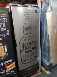 Cervejeira Gelopar 410L porta inox -