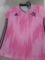 Camisa oficial rosa do Flamengo (campanha contra o cancer)