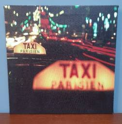 Quadro Taxi Parisien Luz Led