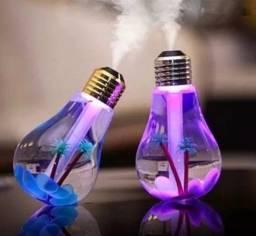 Umidificador De Ar Lâmpada Luminária Luz Led Usb
