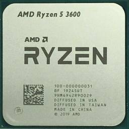 Ryzen 5 3600 3.6GHz(4.2GHz Max Turbo) AM4 Novo