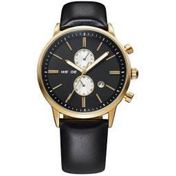 Relógio Masculino Weide Analógico Luxo WH-3302 - Preto e Dourado